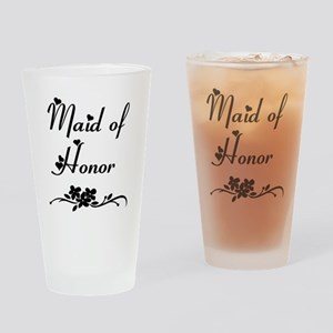 Classic Maid of Honor Drinking Glass