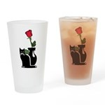 Black Cat and Rose Pint Glass