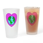 Love Our Planet Drinking Glass