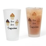 Live Love Cupcakes Drinking Glass