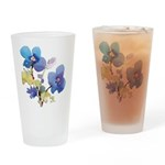 Watercolor Flowers Pint Glass