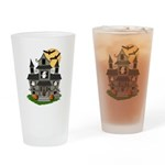 Halloween Haunted House Ghosts Drinking Glass