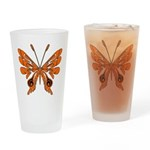 'Butterfly Tattoos Drinking Glass