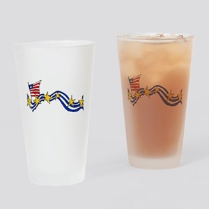 USA Support Drinking Glass
