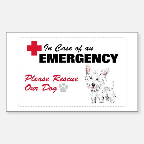 Save My Westie Rectangle Decal