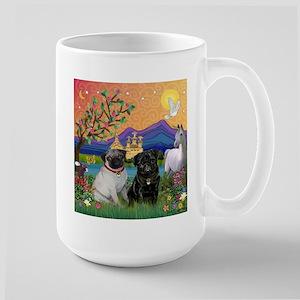 Fantasy Land / Two Pugs Large Mug