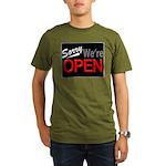 Sorry, We're OPEN Organic Men's T-Shirt (dark)