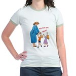 We Love Mom! Jr. Ringer T-Shirt
