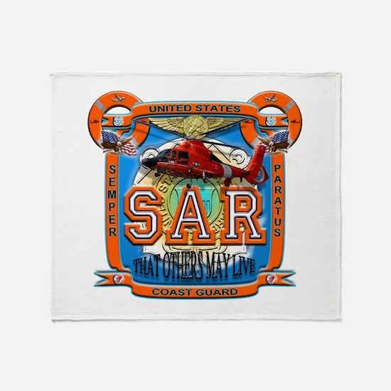 USCG Coast Guard SAR Throw Blanket