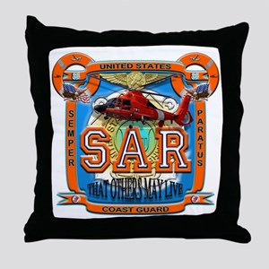 USCG Coast Guard SAR Throw Pillow