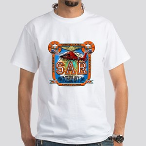 USCG Coast Guard SAR White T-Shirt