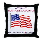 Pro-America Throw Pillow