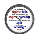 Right - Left - Wrong Wall Clock