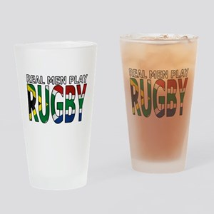 Real Men Rugby South Africa Pint Glass
