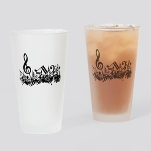 Mixed Musical Notes (black) Pint Glass