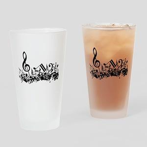 Mixed Musical Notes (black) Pint Glass