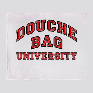 Douchebag University Throw Blanket