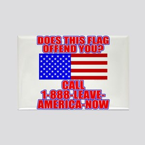 Patriotic or Leave America Rectangle Magnet