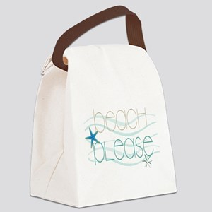 Beach Please starfish waves Canvas Lunch Bag