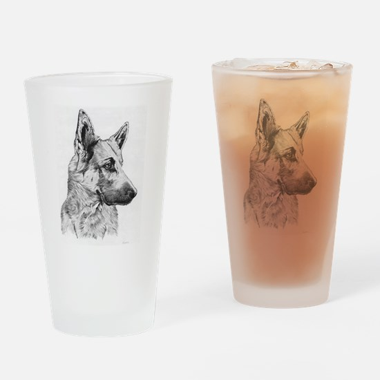 Pup German Shepherd Pencil Dr Pint Glass