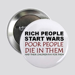 NO MORE WAR! Button