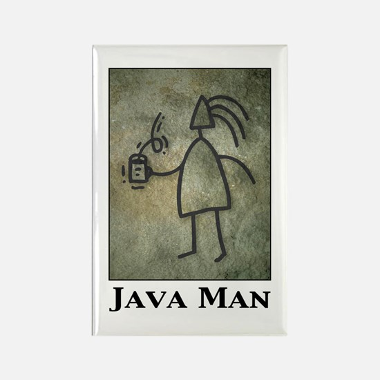 Java Man Rectangle Magnet