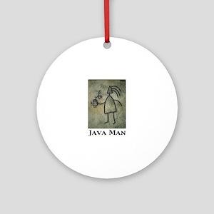 Java Man Ornament (Round)