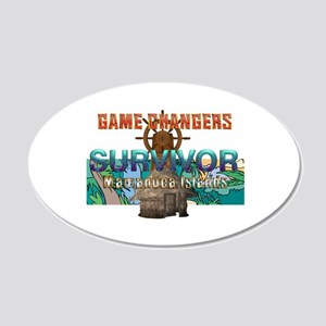 Survivor Game Changers 20x12 Oval Wall Decal