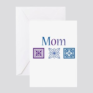 Mom Quilt Blocks Greeting Card