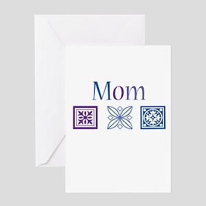 Mom Quilt Blocks Greeting Card