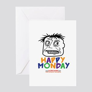 Happy mondays greeting cards cafepress happy monday 03 greeting card m4hsunfo Image collections
