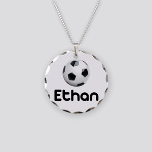 Soccer Ethan Necklace Circle Charm