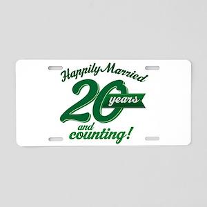 20 Years Anniversary Gift Aluminum License Plate
