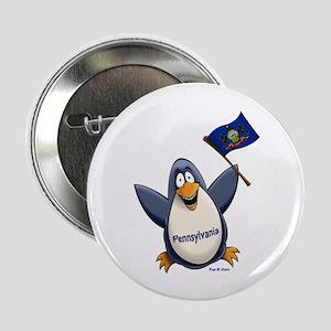 """Pennsylvania Penguin 2.25"""" Button"""