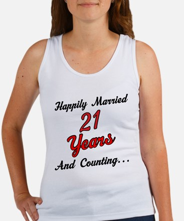 21st Anniversary Gift Married Women's Tank Top