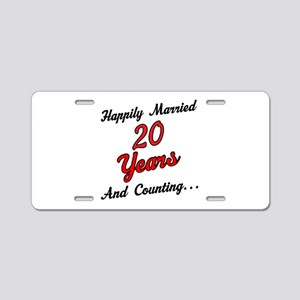 20th Anniversary Gift Married Aluminum License Pla