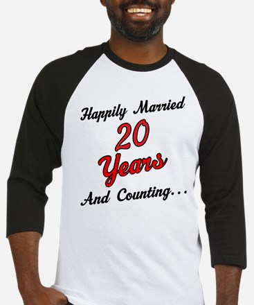 20th Anniversary Gift Married Baseball Jersey