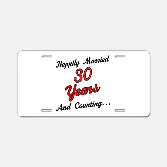 30th Anniversary Gift Married Aluminum License Pla
