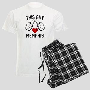 This Guy Loves Memphis Men's Light Pajamas