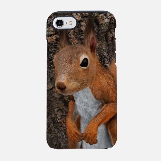European Red Squirrel iPhone 7 Tough Case