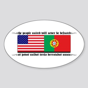 USA - Portugal Oval Sticker