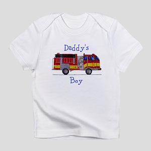 Daddys Boy Fireman Infant Bodysuit T-Shirt