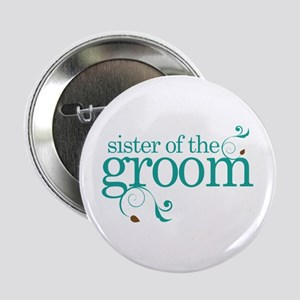 """Sister of the Groom Swirl 2.25"""" Button"""
