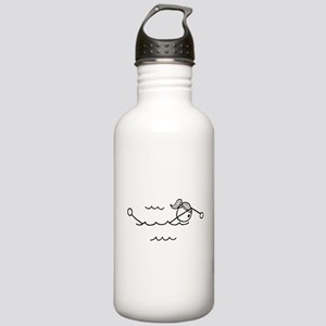 Swim Girl Black No Words Stainless Water Bottle 1.
