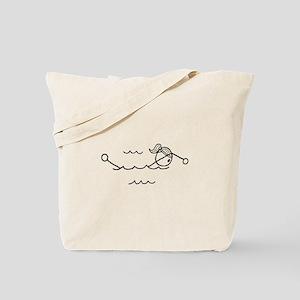 Swim Girl Black No Words Tote Bag