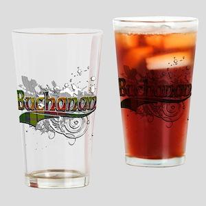 Buchanan Tartan Grunge Drinking Glass