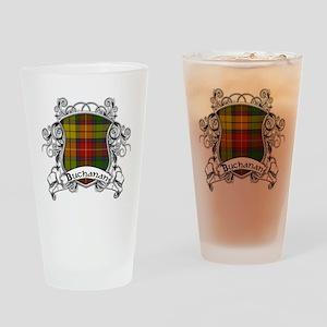 Buchanan Tartan Shield Drinking Glass