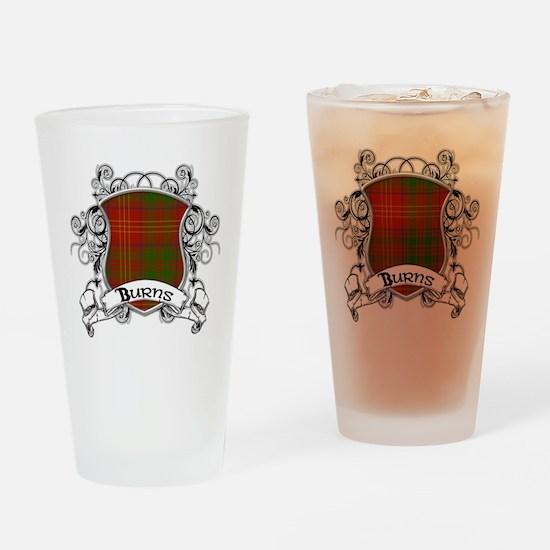 Burns Tartan Shield Drinking Glass