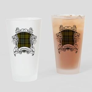 Campbell Tartan Shield Drinking Glass