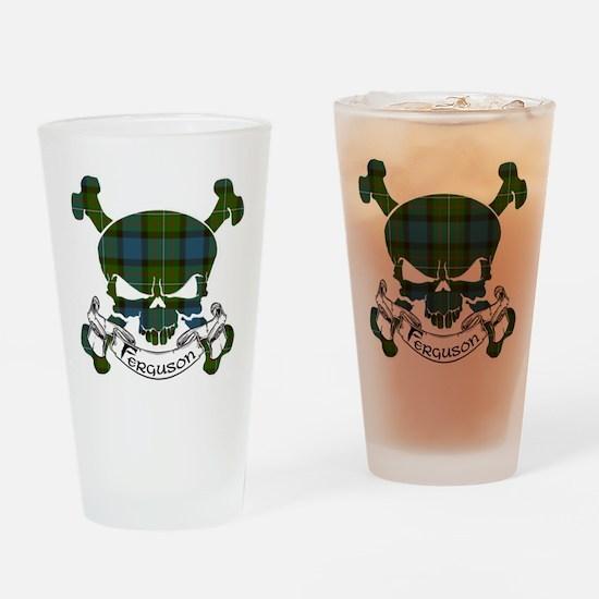 Ferguson Tartan Skull Drinking Glass